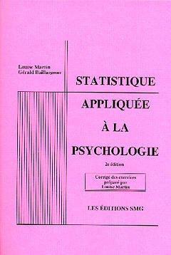 Couverture de l'ouvrage Statistique appliquée à la psychologie (corrigé des exercices 2ème éd)