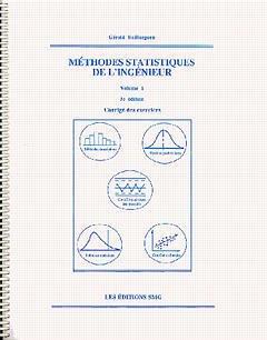 Couverture de l'ouvrage Méthodes statistiques de l'ingénieur Vol 1 (corrigés des exercices, 3° Ed.)