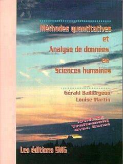 Couverture de l'ouvrage Méthodes quantitatives & analyse de données en sciences humaines.