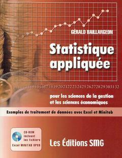 Couverture de l'ouvrage Statistique appliquée pour les sciences de la gestion et les sciences économiques avec CD-ROM (Fichiers Excel, Minitab et SPSS)