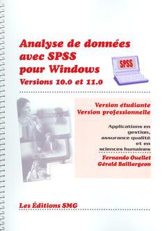 Couverture de l'ouvrage Analyse de données avec SPSS pour Windows Versions 10.0 et 11.0 (Version étudiante/Version professionnelle) Applications en gestion + CD-Rom