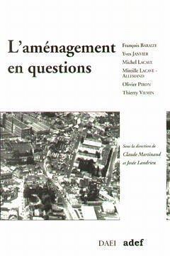 Couverture de l'ouvrage L'aménagement en questions
