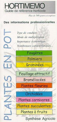 Couverture de l'ouvrage Hortimémo : Plantes en pot (guide de référence horticole)