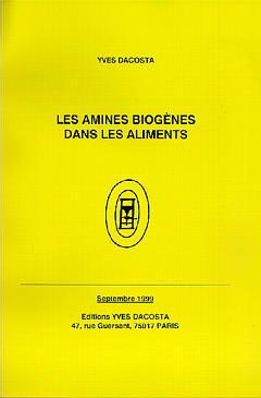 Couverture de l'ouvrage Les amines biogènes dans les aliments