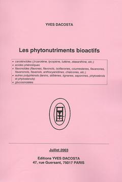 Couverture de l'ouvrage Les phytonutriments bioactifs (Étude)