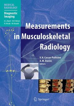 Couverture de l'ouvrage Measurements in musculoskeletal radiology