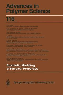 Couverture de l'ouvrage Atomistic Modeling of Physical Properties