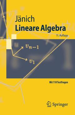 Couverture de l'ouvrage Lineare algebra (11th ed )