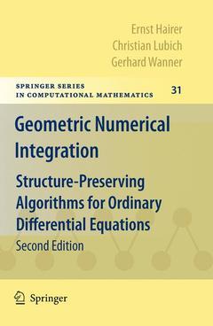 Couverture de l'ouvrage Geometric numerical integration: structure-preserving algorithms for ordinary differential equations (POD)