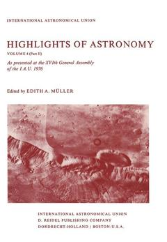 Couverture de l'ouvrage Highlights of astronomy, volume 4 part 2