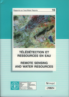 Couverture de l'ouvrage Télédétection et ressources en eau / Remote sensing and water resources