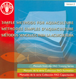 Couverture de l'ouvrage Simple methods for aquaculture. Manuals from the FAO training series. Version 2 (trinlingual En/Fr/Es) CD-ROM