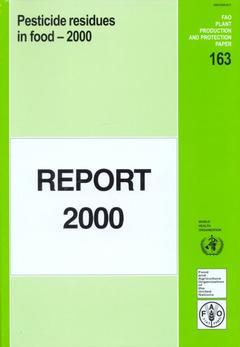 Couverture de l'ouvrage Pesticide residues in food 2000