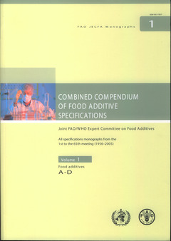 Couverture de l'ouvrage Combined compendium of food additive specifications. Joint FAO/WHO expert committee on food additives. All specifications monographs, food additives A-D