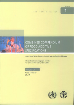 Couverture de l'ouvrage Combined compendium of food additive specifications. Joint FAO/WHO expert committee on food additives. All specifications monographs, food additives P-Z