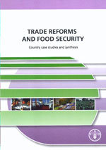 Couverture de l'ouvrage Trade reforms & food security. Country case studies & synthesis