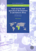 Couverture de l'ouvrage Food security & agricultural development in sub-Saharan africa