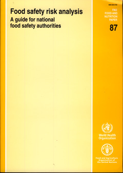 Couverture de l'ouvrage Food safety risk analysis