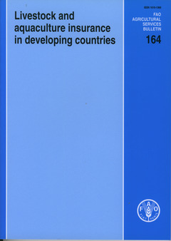 Couverture de l'ouvrage Livestock and aquaculture insurance in developing countries