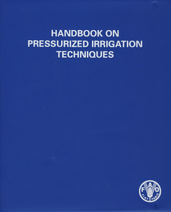 Couverture de l'ouvrage Handbook on pressurized irrigation techniques (in a ring binder)