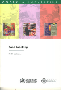 Couverture de l'ouvrage Food labelling (5th Ed)