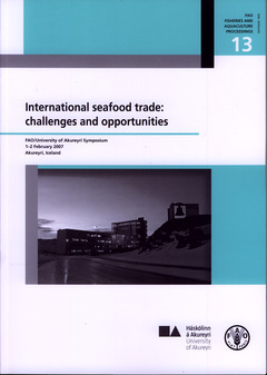 Couverture de l'ouvrage International seafood trade : challenges and opportunities