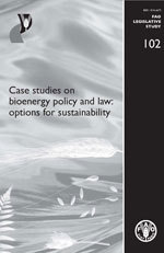 Couverture de l'ouvrage Case studies on bioenergy policy & law
