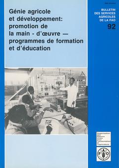 Couverture de l'ouvrage Génie agricole & développement