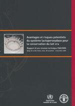 Couverture de l'ouvrage Avantages & risques potentiels du système lactoperoxydase pour la conservation du lait cru