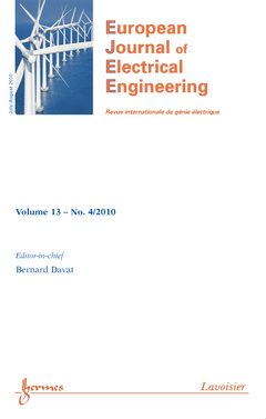 Couverture de l'ouvrage European Journal of Electrical Engineering Volume 13 N° 4/July-August 2010