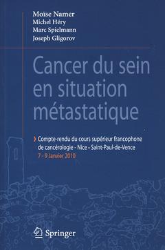 Couverture de l'ouvrage Cancer du sein en situation métastatique