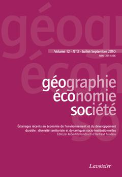 Couverture de l'ouvrage Géographie, économie, société Vol. 12 N° 3 - Juillet-Septembre 2010