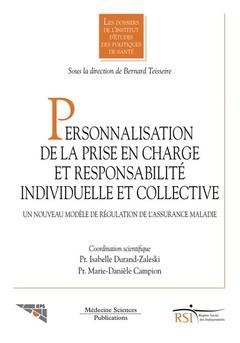 Couverture de l'ouvrage Personnalisation de la prise en charge et responsabilité individuelle et collective