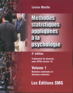 Couverture de l'ouvrage Méthodes statistiques appliquées à la psychologie (avec CD-ROM)