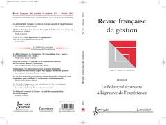 Couverture de l'ouvrage Le balanced scorecard à l'épreuve de l'expérience (Revue française de gestion Vol. 37 N° 211 février 2011)