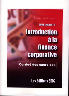 Couverture de l'ouvrage Introduction à la finance corporative