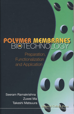 Cover of the book Polymers membranes in biotechnology: Preparation, functionalization & application