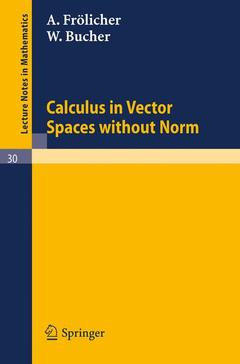 Couverture de l'ouvrage Calculus in Vector Spaces without Norm