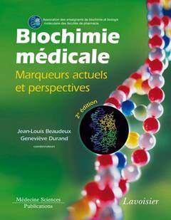 Couverture de l'ouvrage Biochimie médicale