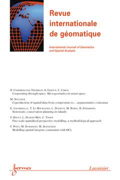 Couverture de l'ouvrage Revue internationale de géomatique Volume 21 - Special issue 2011