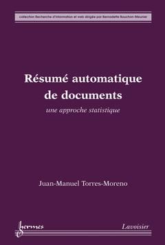 Couverture de l'ouvrage Résumé automatique de documents