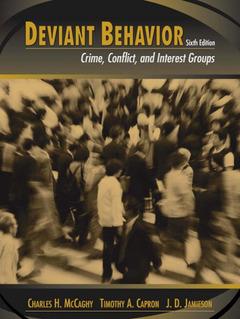 Couverture de l'ouvrage Deviant behavior (6th ed )