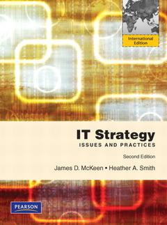 Couverture de l'ouvrage It strategy (2nd ed )