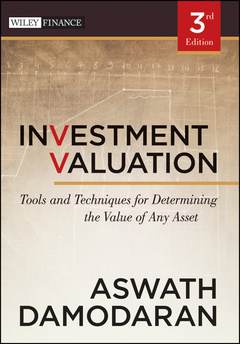 Couverture de l'ouvrage Investment valuation: tools and techniques for determining the value of any asset (hardback) (series: wiley finance)