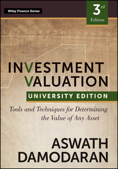 Couverture de l'ouvrage Investment valuation 3e university edition (paperback)