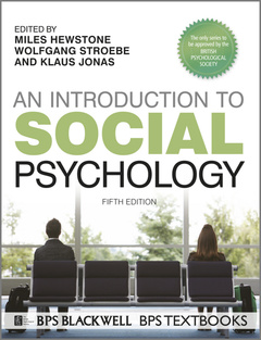 Couverture de l'ouvrage Introduction to social psychology 5e (series: bps textbooks in psychology) (paperback)