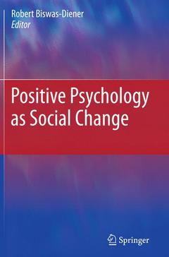 Cover of the book Positive psychology as social change