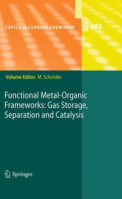 Cover of the book Functional metal-organic frameworks: Gas Storage, Separation and Catalysis