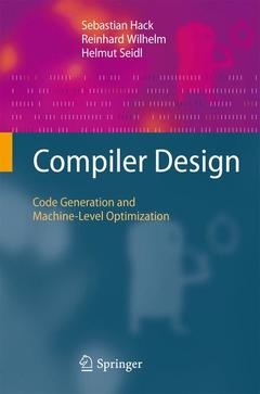 Cover of the book Compiler design: code generation and machine-level optimization