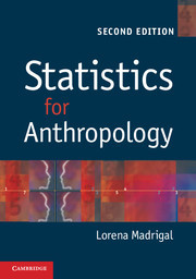Couverture de l'ouvrage Statistics for anthropology (2nd ed )